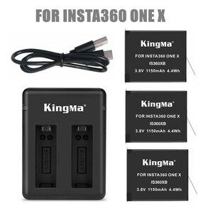 Image 1 - 2019 1/2/3 pièces pour Insta 360 batterie rechargeable + affichage Intelligent double fentes chargeur pour Insta360 One X Camer accessoires