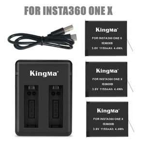 Image 1 - 2019 1/2/3pcs For Insta 360 Chargeable Battery Pack+ Intelligent Display Dual Slots Charger For Insta360 One X Camer Accessories