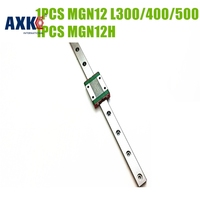 AXK 12mm MGN12 320 400 500 600 Mm Linear Rail Way Linear Carriage Guide With MGN12C