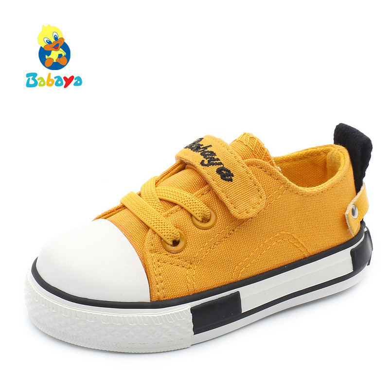 Children Canvas Shoes Baby Girls And Boys 2018 Autumn Soft Bottom Breathable Walking Shoes 1-2-3 Years Old Baby Shoes Toddler