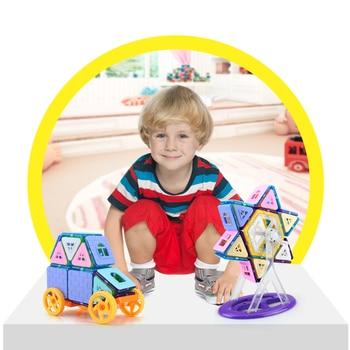 168PCS Mini Magnetic Building Blocks Magnetic Constructor Designer 3D Pulling DIY Educational Toys Kids Magnet Toys for Children