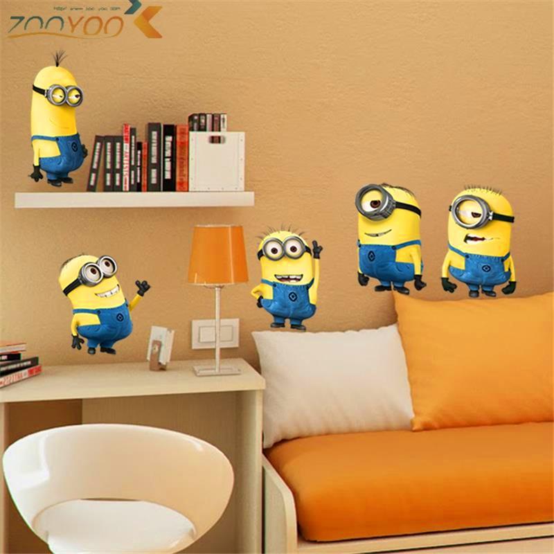 ngjitëset e murit të filmave të bukur të verdhë për fëmijë - Dekor në shtëpi - Foto 6