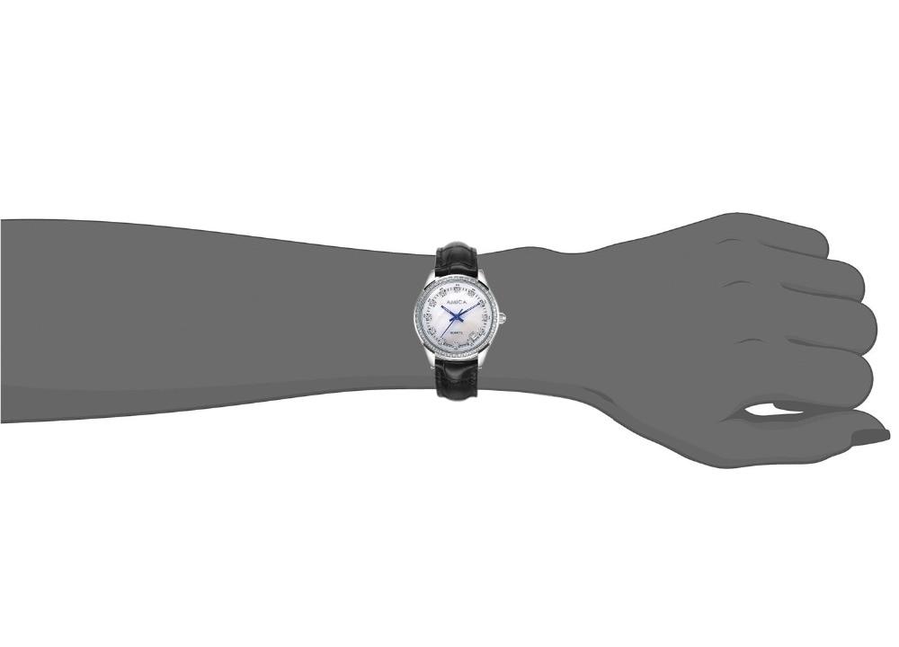 Eyki marca masculino tridimensional dial esporte relógios amante mulher simples design criativo de couro quartzo relógio de pulso preto - 2