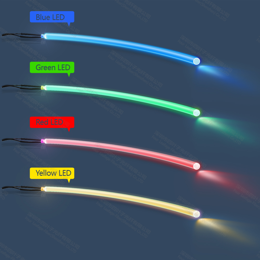 3mm tpu side glowing fiber optic for clothing clothes light wrist