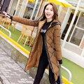 2016 jacket new fashion inverno mulheres primavera casaco de algodão acolchoado longo fino casaco casaco quente casaco parka feminino ladies clothing