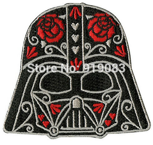 "3"" Star Wars Red Rose Valentine Day The Force Awakens Patch Movie TV Series Cosplay Costume Embroidered Emblem iron on patch-in Patches from Home & Garden    1"