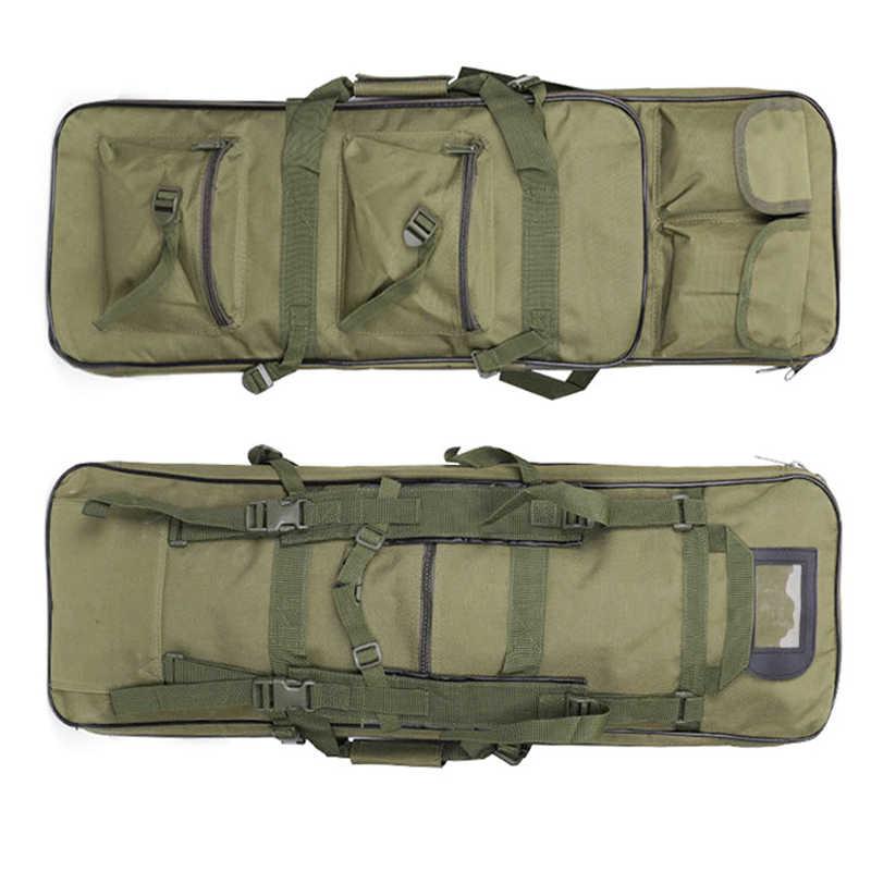 81 см Тактический ружейный рюкзак охотничья сумка наружная спортивная сумка через плечо нейлоновая Военная винтовка кобура для пистолета защитная сумка черный зеленый