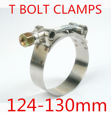 4pcs/lot 124-130mm T BOLT CLAMPS Turbo Pipe Hose Coupler Stainless Steel