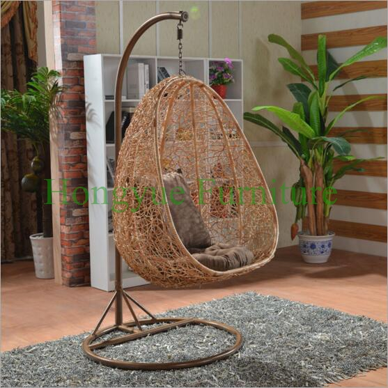 Natural Rattan Hanging Chair Set Furniture Outdoor-in