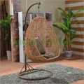 Natural rattan hanging chair set furniture outdoor