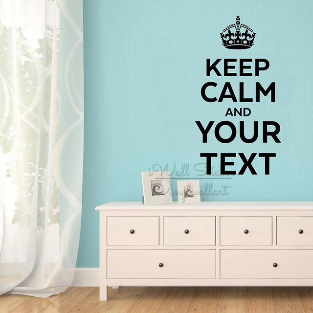 keep calm custom quote wall sticker custom lettering wall decal cut