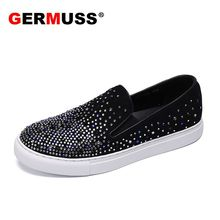 2018Plus Size 38-46 Genuine leather shoes Men Casual Diamond Rhinestones Summer Breathable Holes Luxury Brand Flats boat Shoes 2017 new arrival high quality genuine leather luxury brand summer men casual shoes breathable holes black brown khaki