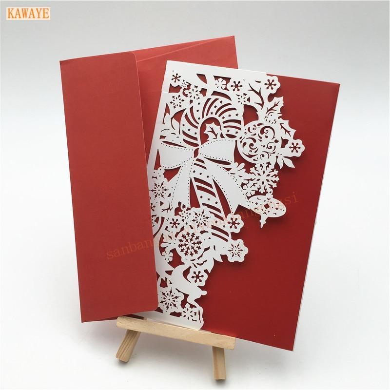 20Pcs Romantic Delicate Carved Pattern Wedding Invitation Card Party Invitation Cards KAWAYE Wedding Decorations Envelope 7ZH45