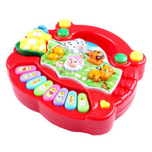 hot deal buy 1 pc baby musical toys educational animal farm piano developing musical toys with animal sound cute mini sounding toys new brand