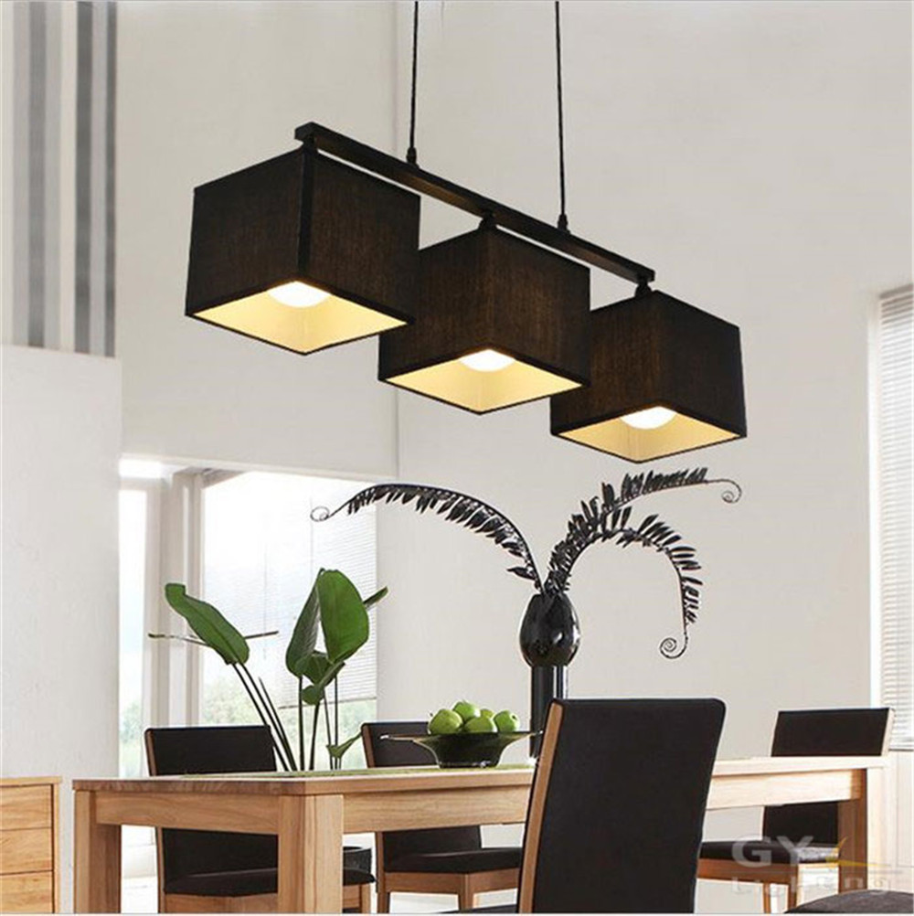 Lighting kitchen dining room lamp luminaire in chandeliers from lights -  Modern Korean Led Dining Room Hanging Lamp Chandeliers Lights Cloth Fabric Lampshade Kitchen Luminaire Lamparas Home