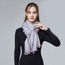 Fashion Women Cashmere Scarf Shawls Wool Pashmina Tartan Scarves Winter Plaid Bandana Wraps Neckercheif Men Blanket Warm Poncho