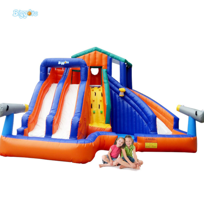 Inflatable Biggors Children Inflatable Pool With Slides Inflatable Water Slide inflatable biggors kids inflatable water slide with pool nylon and pvc material shark slide water slide water park for sale