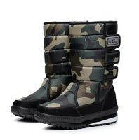 Men Winter Waterproof Hunting Boots Thickening Thermal Snow Boots Outdoor Warm Fur Shoes Camouflage Military Desert