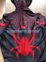 Black spiderman costume 3D print Spandex Lycra Superhero Spider Man Cosplay Suit Carnaval Adult Zentai Suit Can custom made