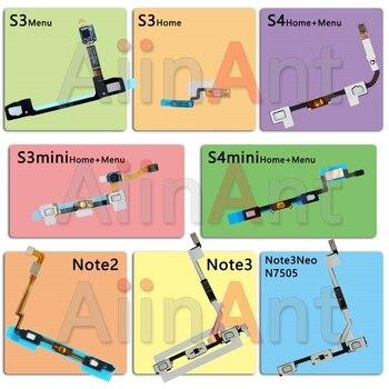 цена на Original Phone Home Flex For Samsung Galaxy S3 S4 Note 2 3 Neo mini i9300 i9500 Back Menu Button Flex Cable Replacement