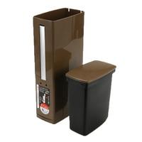 High Grage Trash Can Bathroom Waste Bin Set with Toilet Brush Bath Cleaning Tools Dustbin Trash Can Garbage Bucket Bag Dispenser