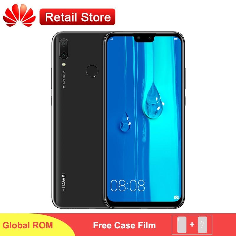 Global Firmware Huawei Y9 2019 4000mAh Mobile Phone 6 5 Kirin 710 Octa Core Android 8