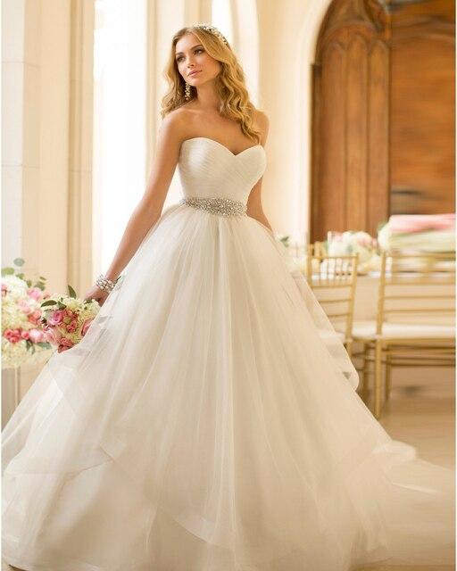 Vestido De Noiva 2015 Sexy Ball Gown Cheap Wedding Dresses
