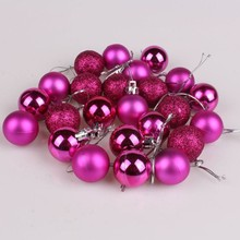 24pcs/lot 30mm Christmas Tree Decor Ball Bauble Hanging Xmas Party Ornament decorations for Home Christmas decorations
