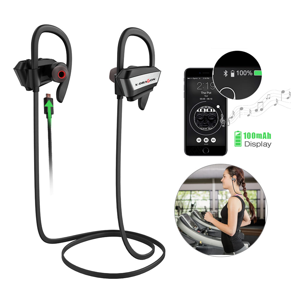 High Quality Wireless Bluetooth Earphone Sports Wireless Headphone Hi-Fi Stereo Sound Bluetooth Earphone Gym Headphone. image