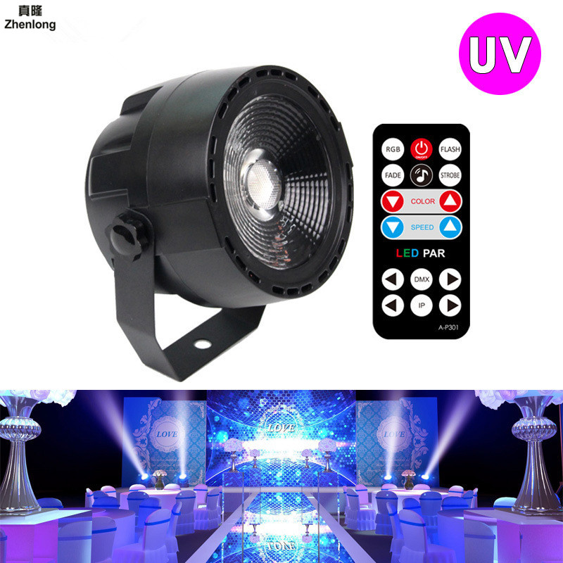12W UV LED Stage Light Sound Active 1LEDs Auto DMX Ultraviolet Strobe Par Black Lights For Disco light DJ Projector Wedding Bar