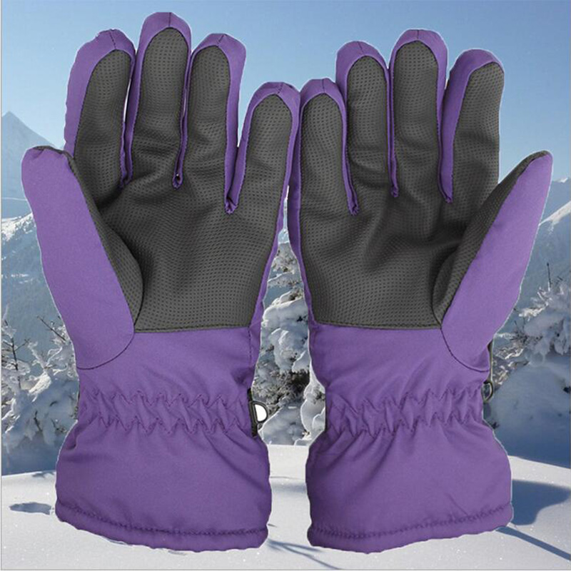 Winter Women Full Finger Ski Gloves Space Cotton Warm Bike Outdoor Sport Gloves Windproof Moto Bicycle Cycling Snow Gloves G43