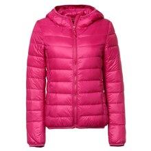 Plus size 7XL Winter Women Ultra Light Down Jacket White Duck Down Hooded Jackets Long Sleeve Outerwear Waterproof Warm Coats
