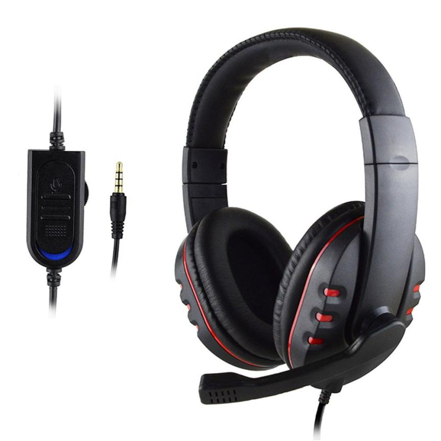 New Gaming Headset Voice Control Wired HI-FI Sound Quality For PS4 Black+Red SP05 Dropship