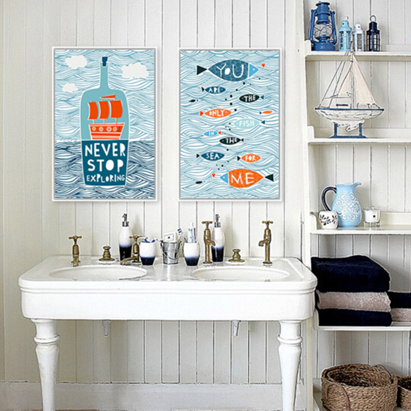 US $3.25 50% OFF|Cartoon Fish Ocean Motivational Typography Quotes on zen bathroom design, medieval bathroom design, vintage inspired bathroom design, geometric bathroom design, transitional bathroom design, floral bathroom design, tuscan bathroom design, art nouveau bathroom design, reclaimed wood bathroom design, simple bathtub design, classical bathroom design, nature bathroom design, bathroom floor design, star wars bathroom design, shaker style bathroom design, country bathroom design, international bathroom design, gold bathroom design, celtic bathroom design, pop art bathroom design,