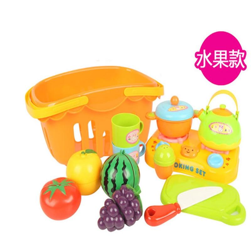 12pcs Set Plastic Vegetables Toy Miniature Kitchen Cuisine Tableware Children Educational Games Kitchen Accessories Set