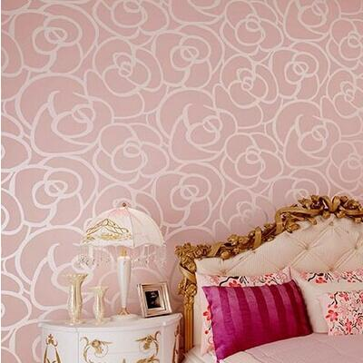 beibehang papel de parede 3d flower romantic floral Non Woven flocking wallpaper for bedroom living room girls  decoration large mural papel de parede european nostalgia abstract flower and bird wallpaper living room sofa tv wall bedroom 3d wallpaper