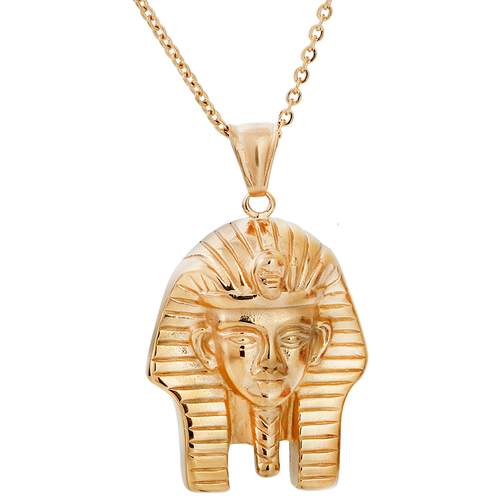 Unique Merchandise Gold Color Jewelry Personalized Egyptian Androsphinx Necklace