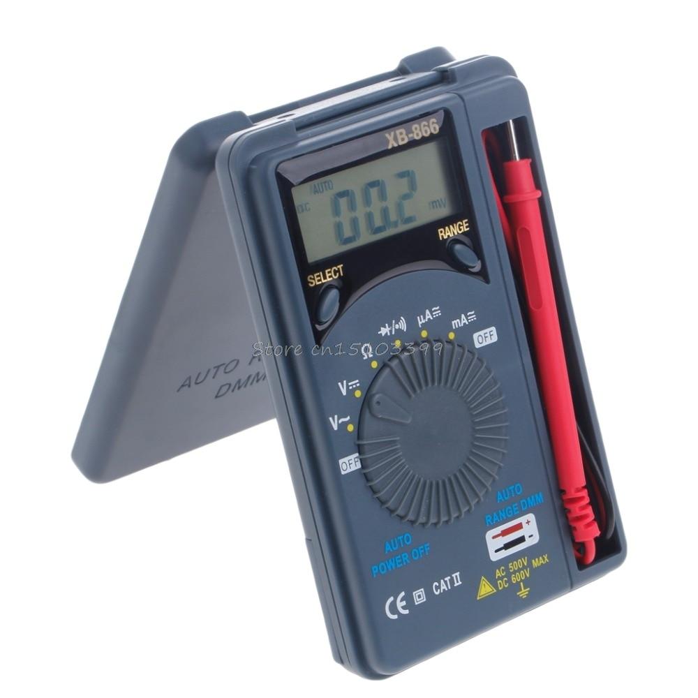 XB866 Mini Auto Range LCD Voltmeter Tester Tool AC/DC Pocket Digital Multimeter Capacimetro Rlc Meter Test