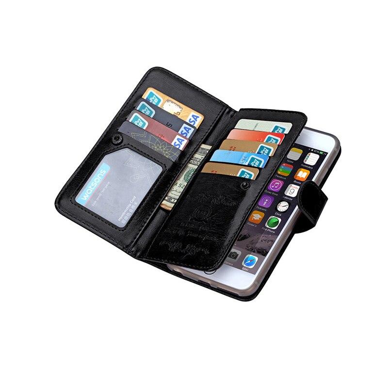 För iphone 6 6S 6 S Plus Fodral Lyxig plånbok Läder Flip Cover - Reservdelar och tillbehör för mobiltelefoner - Foto 4
