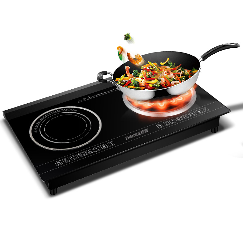 4800W Home Desktop High power Embedded Double head Induction Cooker Double Eye Cooker Waterproof Touch Panel