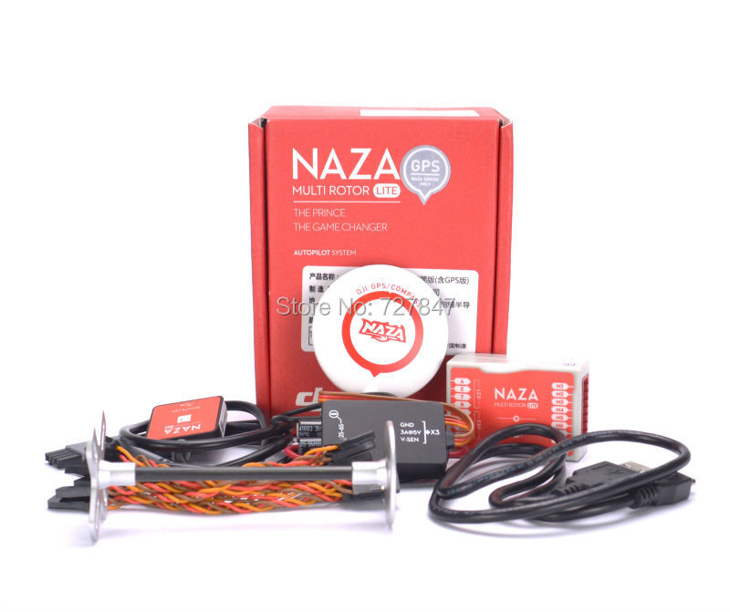 Naza M Lite Multi Flyer Version Flight Control Controller w/ PMU Power Module & LED &Cables & GPS & stand  holder