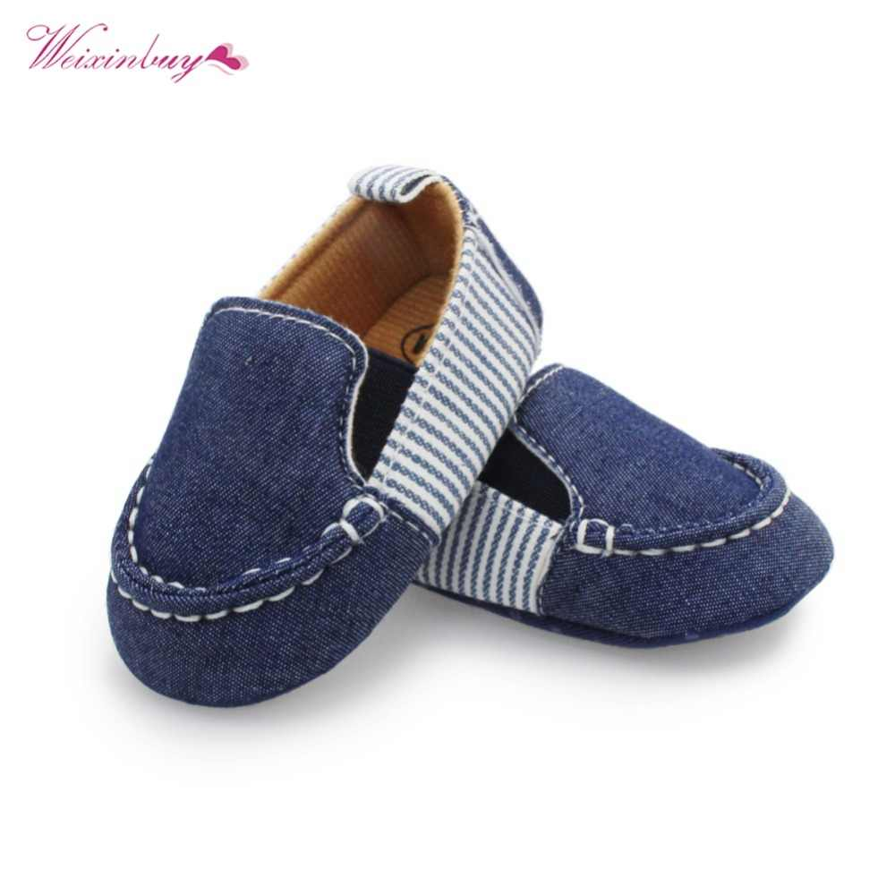 835aff79420 Newborn Soft Bottom Shoes First Walkers No-slip Loafers Spring Autumn Kids  Baby Boys Girls
