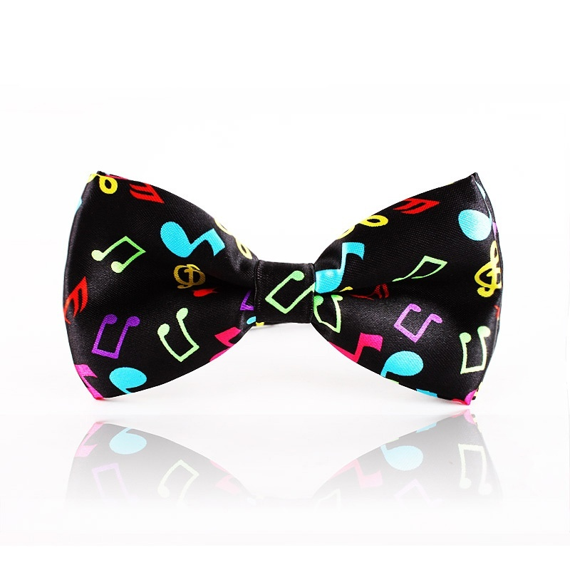 Fashion Men's Tuxedo Adjustable Bow Tie Classic Music Mark Pattern Two-layer Neck Bowtie Accessories