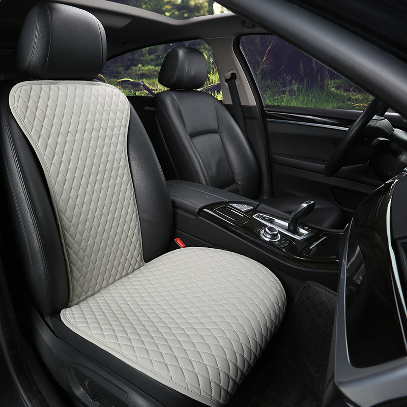 2019 Brand New Easy Clean Not Moves Car Seat Cushions, Universal Pu Leather Non Slide Seats Cover Fits For Most Cars Water Proof