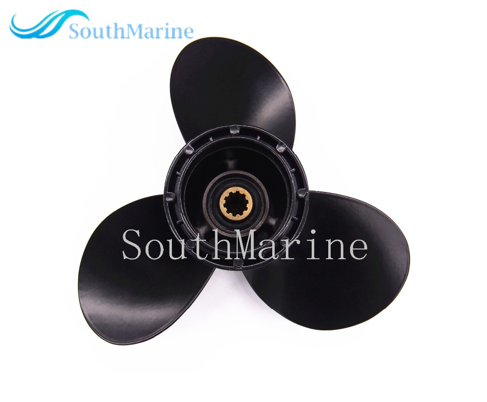 Boat Engine Aluminum Propeller 9 1/4x8 for Suzuki 9.9HP 15HP Outboard Motor 9 1/4 x 8