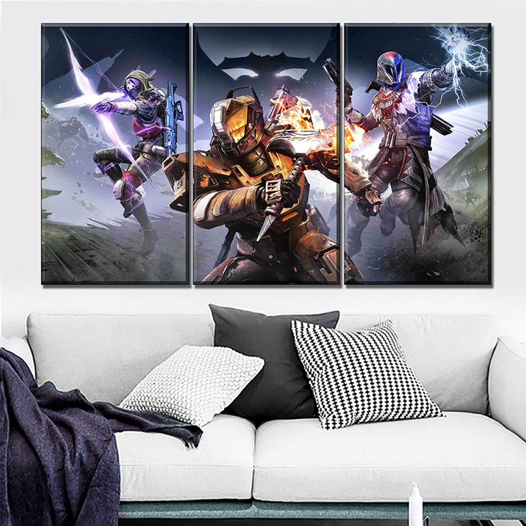 Game Poster 3 Pieces Home Decorative Destiny The Taken King Painting Wall Art Pictures Modern High Quality Canvas Print Type in Painting Calligraphy from Home Garden