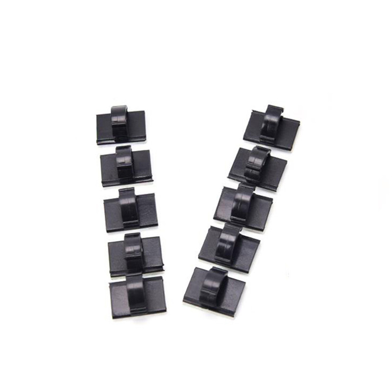 Auto Fastener & Clip Automobiles & Motorcycles Precise 10pcs Car Crossed Clamp 10pcs/lot Black Adhesive Car Cable Clips Cable Winder Drop Wire Tie Fixer Holder Management Desk Wall Promoting Health And Curing Diseases