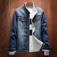 XMY3DWX Men Jacket And Coats Brand Clothing Denim Jacket Fashion Mens Jeans Jacket Thick Warm Winter
