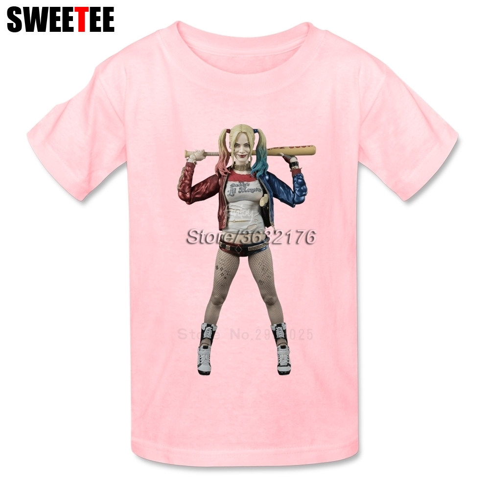 Suicide Squad T Shirt Kid Cotton Toddler O Neck Baby Tshirt childrens Infant Clothing 2018 Harley Quinn T-shirt For Boy Girl