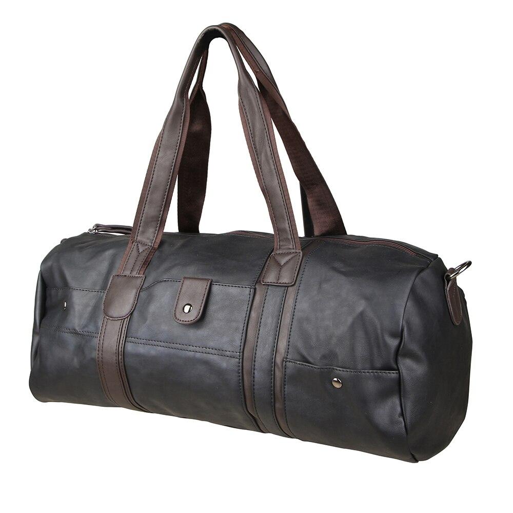 homens bolsa de couro bolsa Bolsa de Viagem : Duffle do Curso